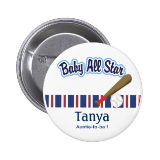 Baby All Stars Baby Shower Name Tag Button