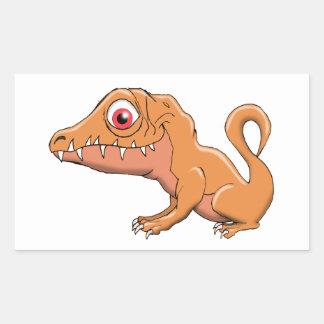 Baby Allosaurus Rectangular Sticker