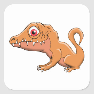 Baby Allosaurus Square Sticker