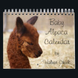 """Baby Alpaca Calendar 2018<br><div class=""""desc"""">Our Alpaca 2018 Calendars are full of cute baby alpacas! An alpaca calendar where you can enjoy our crias all year long! Alpacas are different from other farm animals because they are always smiling and they look happy... they&#39;re sure to make you smile too! :) The alpacas really are adorable...</div>"""