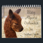 "Baby Alpaca Calendar 2018<br><div class=""desc"">Our Alpaca 2018 Calendars are full of cute baby alpacas! An alpaca calendar where you can enjoy our crias all year long! Alpacas are different from other farm animals because they are always smiling and they look happy... they&#39;re sure to make you smile too! :) The alpacas really are adorable...</div>"