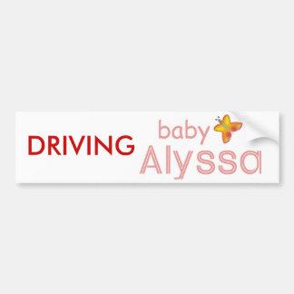 Baby Alyssa Bumper Sticker