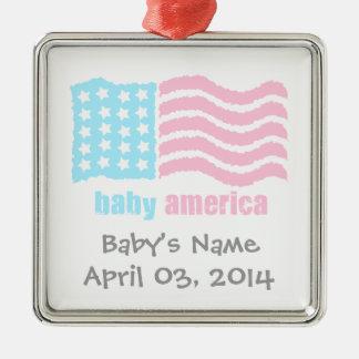 baby america metal ornament