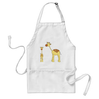 Baby and Adult Giraffe. Adult Apron