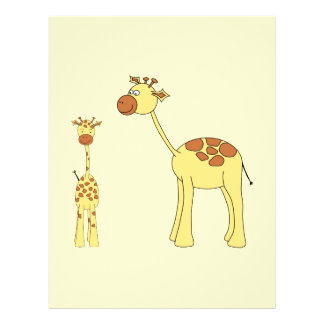 Baby and Adult Giraffe. Flyer