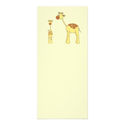 Baby and Adult Giraffe. Rack Card Design