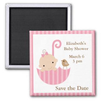 Baby and Bird in Umbrella Magnet