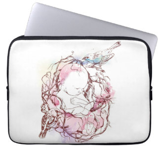 baby and birds computer sleeve