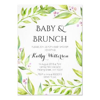 Baby and Brunch Botanical Shower Invitation
