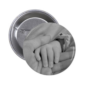 Baby and Daddy Holding Hands 2 Inch Round Button