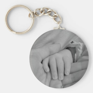 Baby and Daddy Holding Hands Keychain