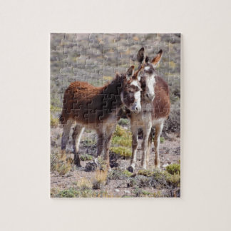 Baby and Mama Burro Jigsaw Puzzle