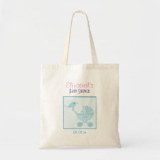 Baby and Mommy Bluebirds Baby Shower Favor Tote Bag at Zazzle