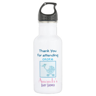 Baby and Mommy Bluebirds baby Shower Favor Water Bottle