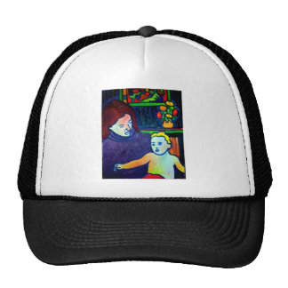 Baby and Mother by Piliero Trucker Hat