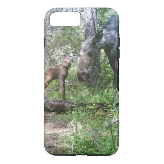 Baby and mother moose iPhone 8 plus/7 plus case
