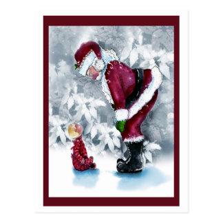 Baby and Santa Postcard
