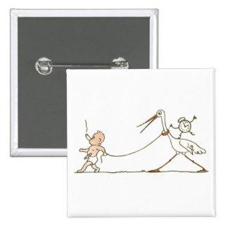 Baby and Stork Pin