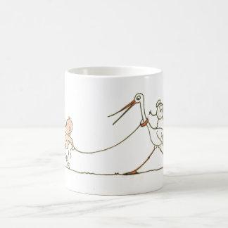 Baby and Stork Classic White Coffee Mug