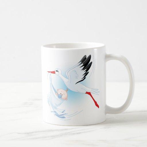 Baby and Stork Mugs