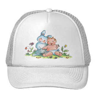Baby and Sweet Bunny Rabbit Hat