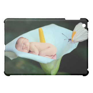 Baby and waterlily flower gift iPad mini covers