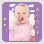 Baby Angel Clouds Square Sticker