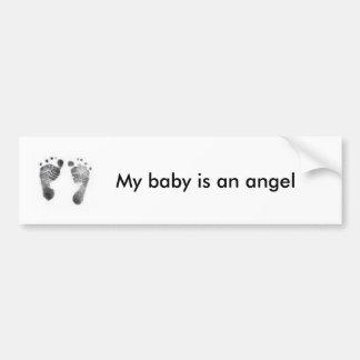 Baby angel footprints bumper sticker