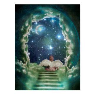 Baby Angel In Heaven Christmas Postcard