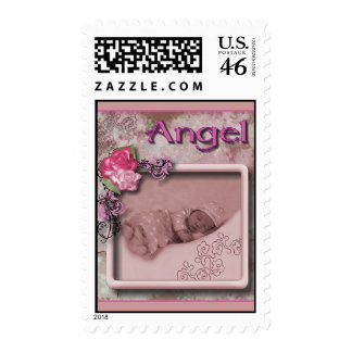 Baby Angel Postage Stamp