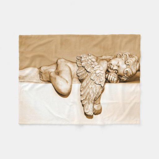 Baby Angel Sleeping: Fleece Blanket