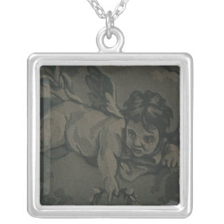 Baby Angel Square Pendant Necklace