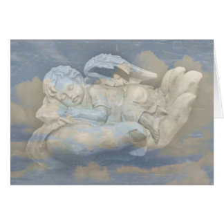 Baby Angel Wings Sleeping in God's Hand Card