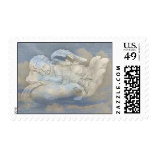 Baby Angel Wings Sleeping in God's Hand Stamp