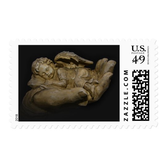 Baby Angel Wings Sleeping in Hand Postage