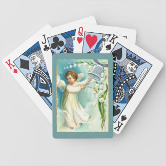 Baby Angel With Blue Bell Bicycle Playing Cards