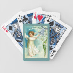 Baby Angel With Blue Bell Bicycle Poker Cards