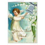 Baby Angel With Blue Bell Card