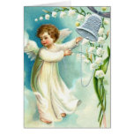 Baby Angel With Blue Bell Cards