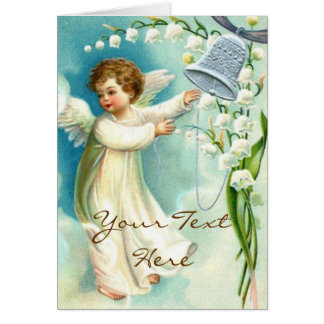 Baby Angel With Blue Bell Greeting Card