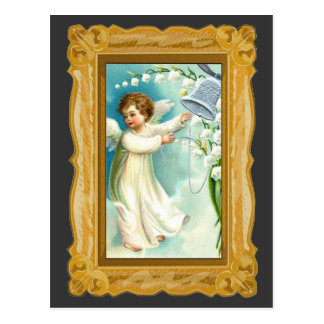 Baby Angel With Blue Bell Postcard