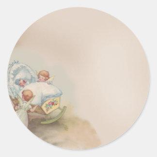 Baby Angels Round Stickers