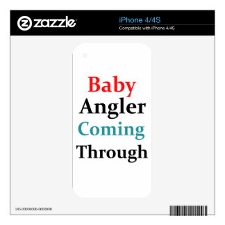 Baby Angler Coming Through Decals For iPhone 4S