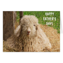 Baby Angora Goat Father's Day Card