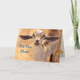 Baby Animal Goat Mother's Day Card
