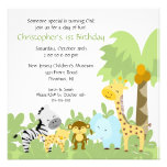 Baby Animal Jungle Birthday Invitation