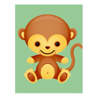 Baby Animal Monkey Postcard
