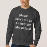baby animal pullover sweatshirts