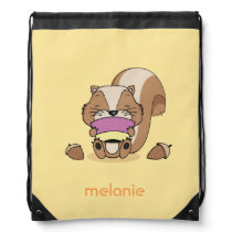 Baby animal squirrel huzelnuts cute breakfast bag
