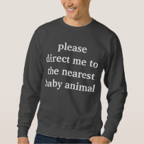 baby animal sweatshirt